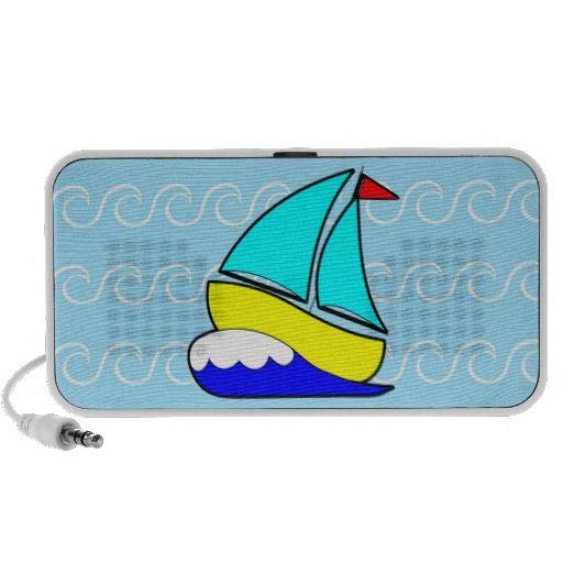 Whimsical Sailboat iPod Speakers
