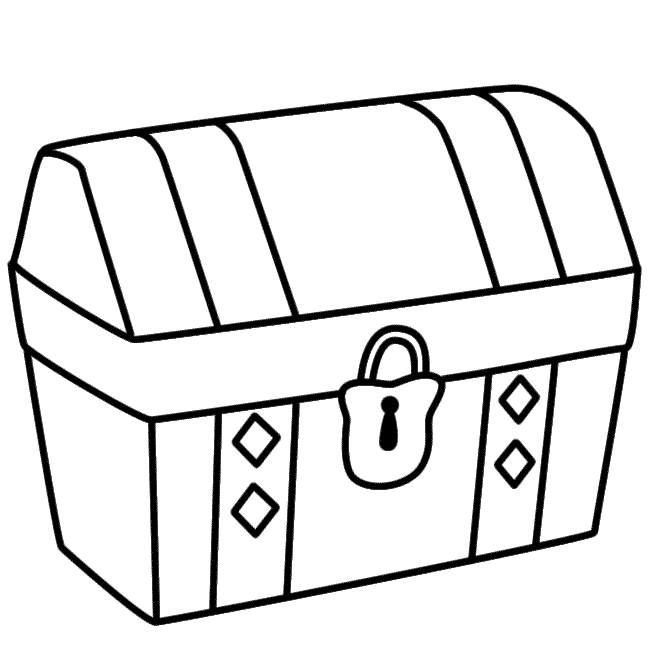 treasure chest lock coloring pages - photo#11