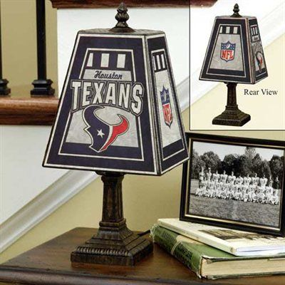 Houston Texans Art Glass Table Lamp