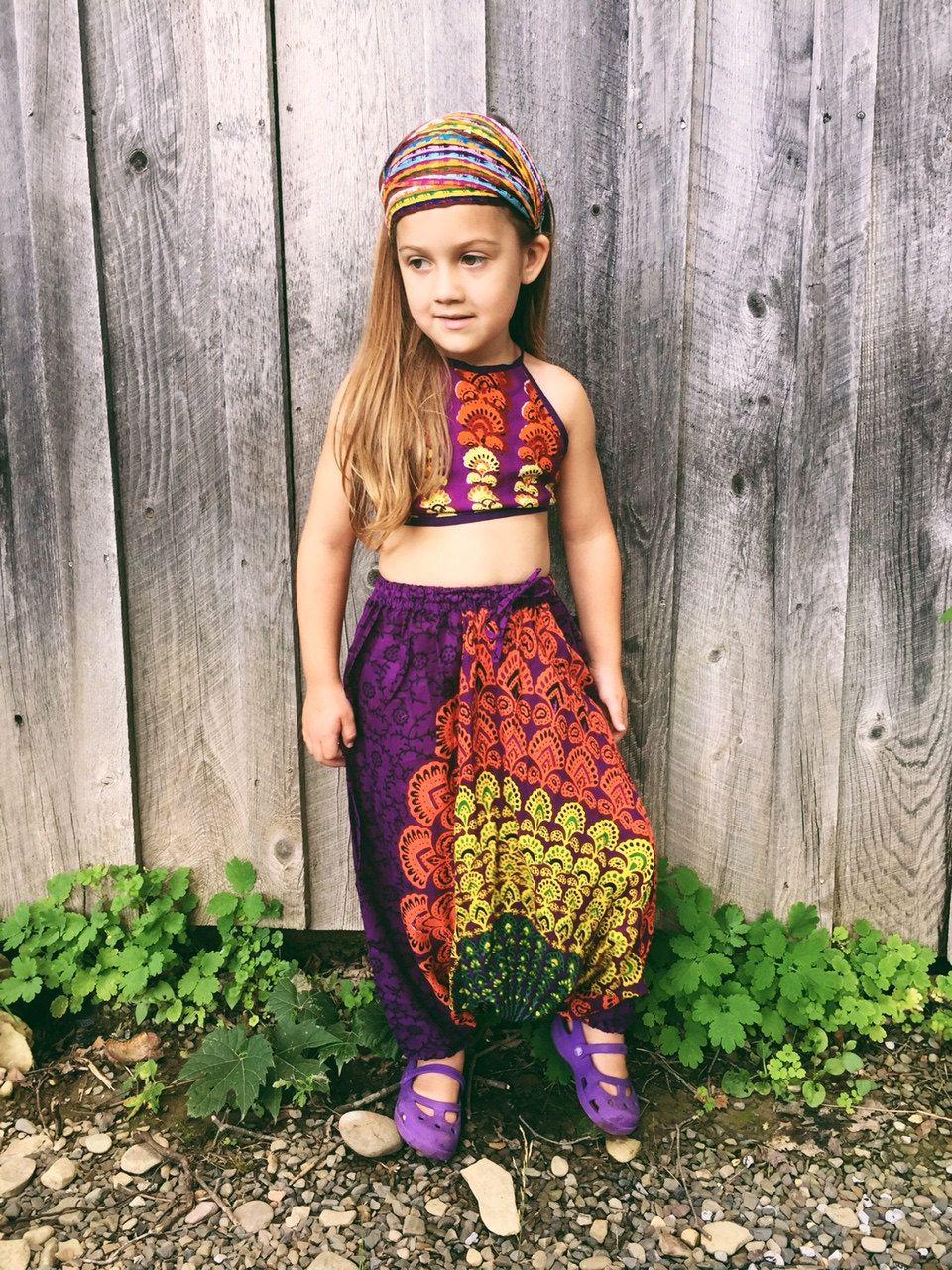 4t, toddler harem pant, boho children's leggings, tribal hippie