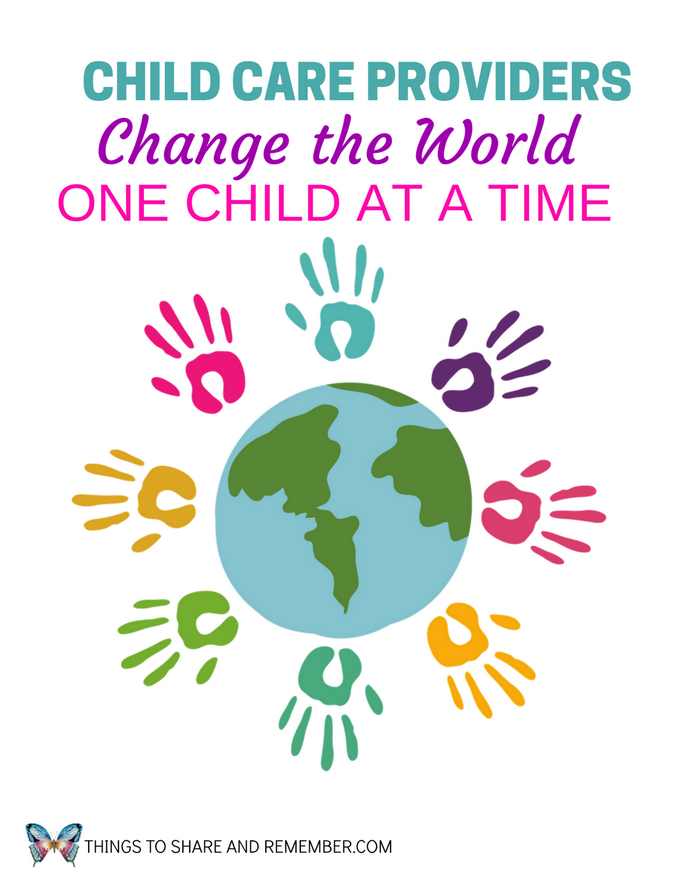 Child Care Providers Change the World Printable Poster
