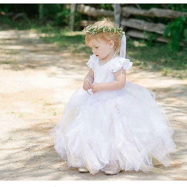 08953c341b Beautiful Flower Girl Tutu and Ruffle Sleeve Leotard by The Leotard Boutique.  A perfect   dreamy wedding!