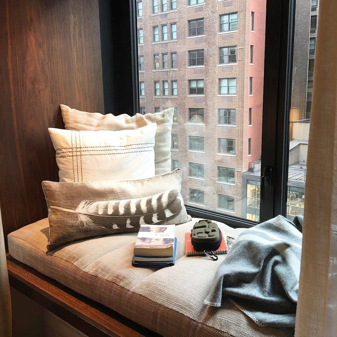 Window nook ideas  cozy up with a good read in your window nook at  hotel central park
