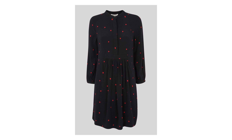 2a1fc415ad14e Mia Heart Print Dress | AW2018 | Dresses, Clothes for women, Black ...
