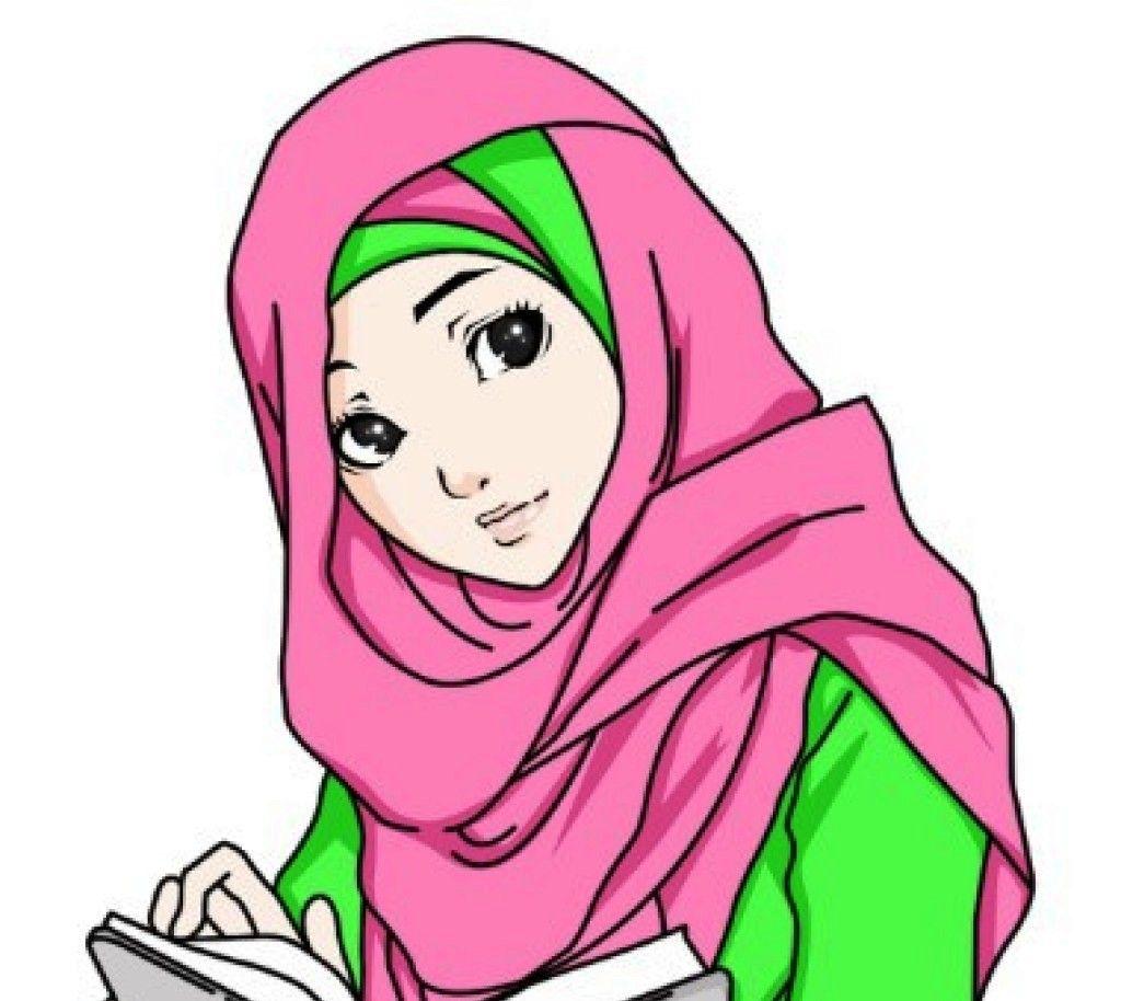 Gambar Kartun Muslimah Berdou2019a Bergerak El Kumpulan