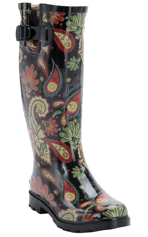 759fb111113 Corky's® Women's Paisley Multi Color Rodeo Round Toe Rain Boots ...
