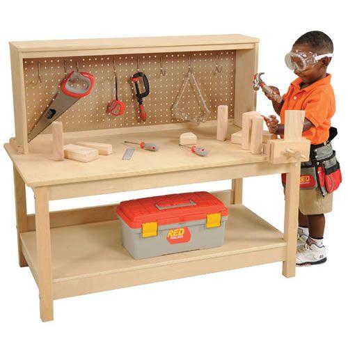 Wooden Workbench With Vise Kids Workbench Workbench Kids Tool Bench