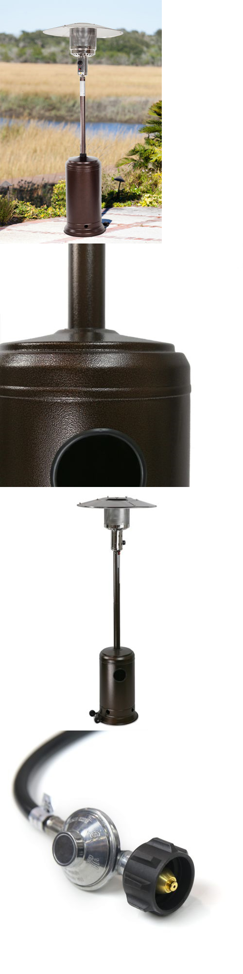 Patio heaters hammered bronze outdoor patio heater propane