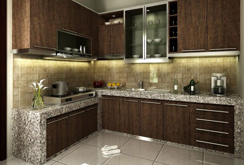 Minimalist Idea Applied In Small Kitchen Design Ideas Interior Prepossessing Designer Kitchen Tiles Design Inspiration