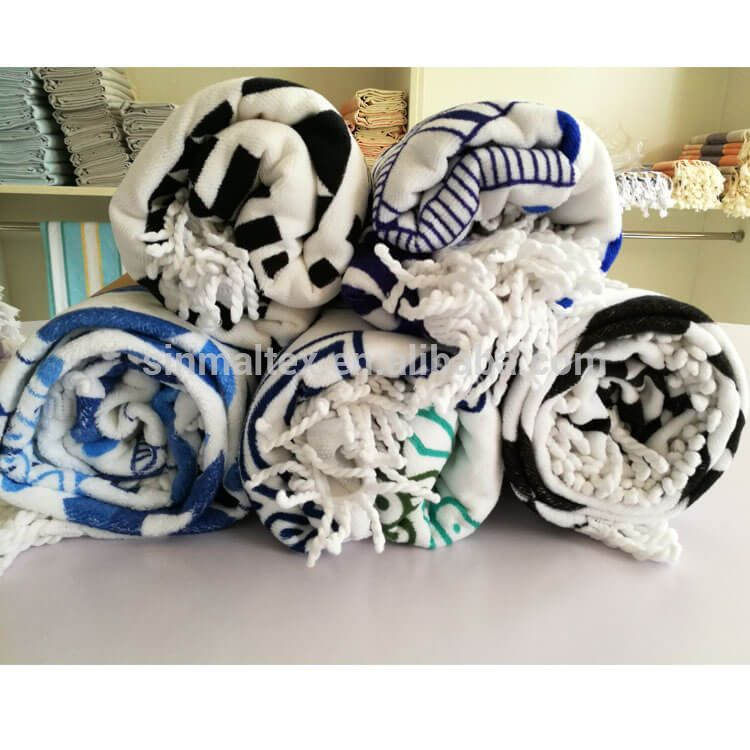 Custom Printed Circle Shape Aztec Round Beach Towel Whole Mandala Rou 100