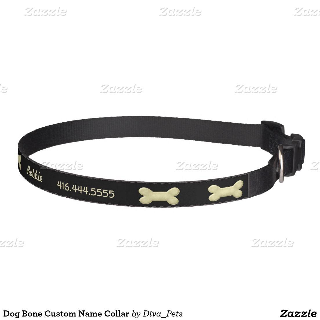 Dog Bone Custom Name Collar Dog Collars