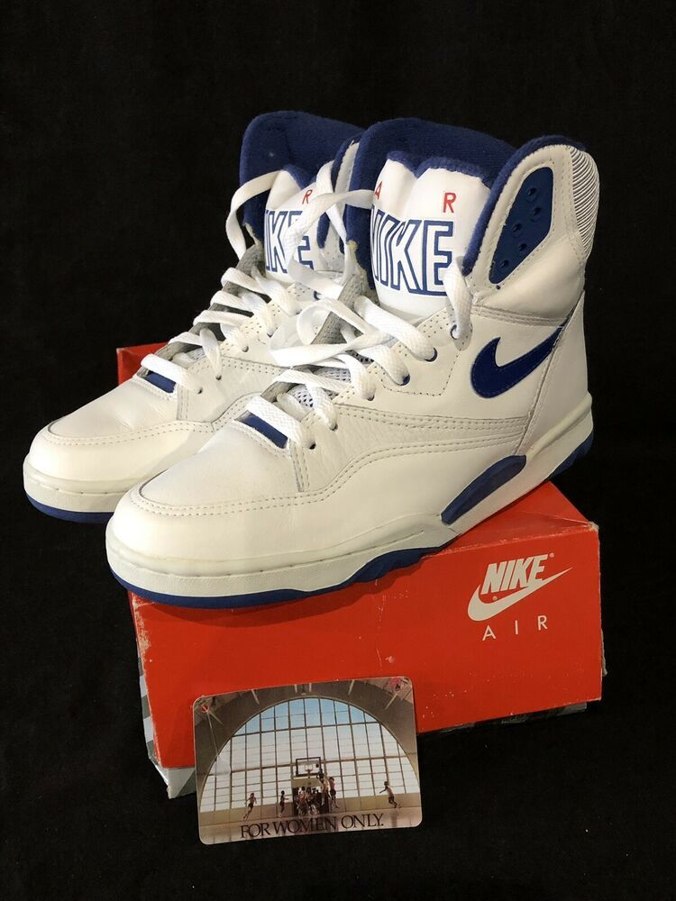 nike original air revolution basketball size 12 white blue