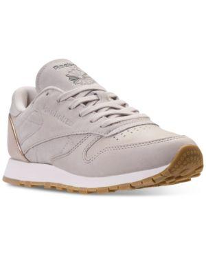 53b2d7b8092 Reebok Women s Classic Leather Golden Neutrals Casual Sneakers from Finish  Line - VEGTAN SAND TRAP ROSE GOL