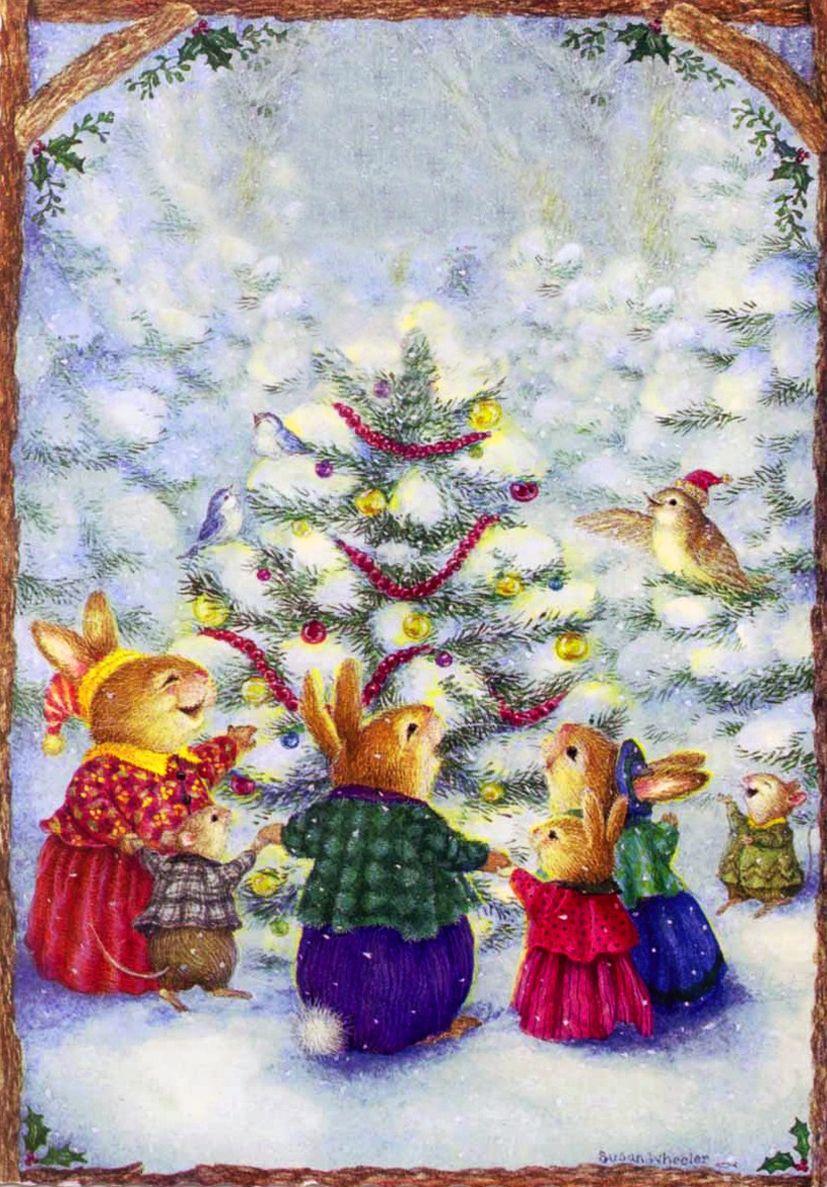 Открытка на рождественскую сказку, прикол юлю кошки