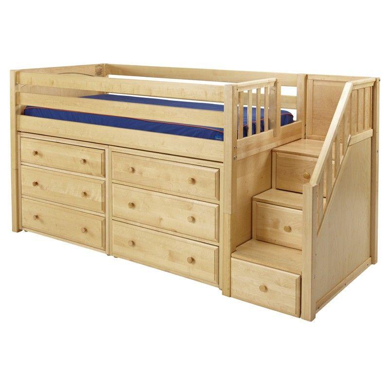 Niedriges hochbett mit treppe schlafzimmer - Niedriges hochbett ...