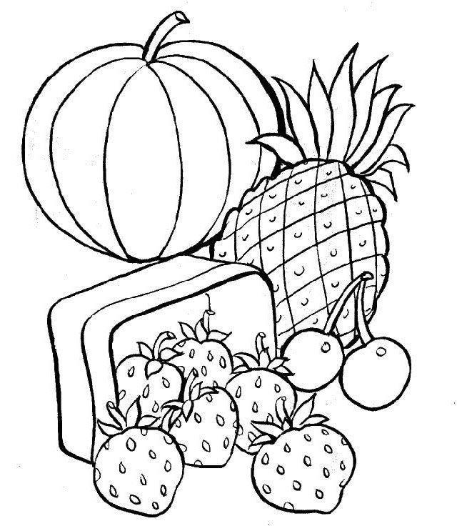 Dibujos-para-colorear-de-frutas-y-verduras-2.jpg (647×736) | fruits ...