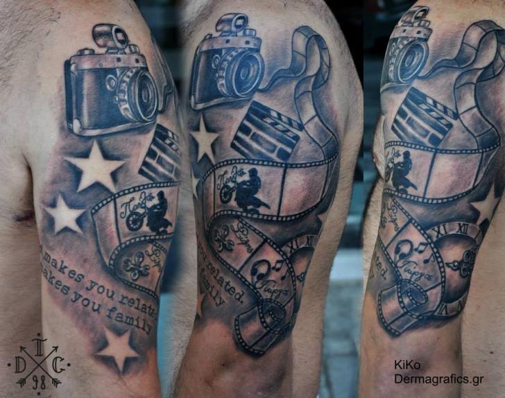 Camara Tattoos Shoulder Tattoo Camera Tattoo