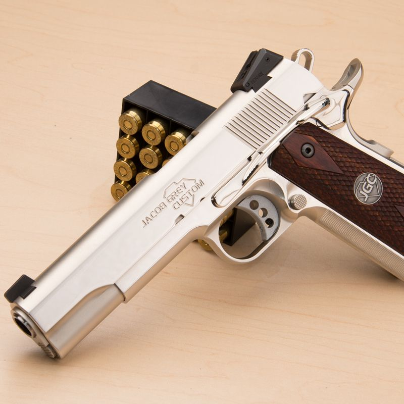 Jacob Grey Custom manufactures high-end, high-performance custom 1911s like its Justice using aerospace-grade CNC machines and processes.