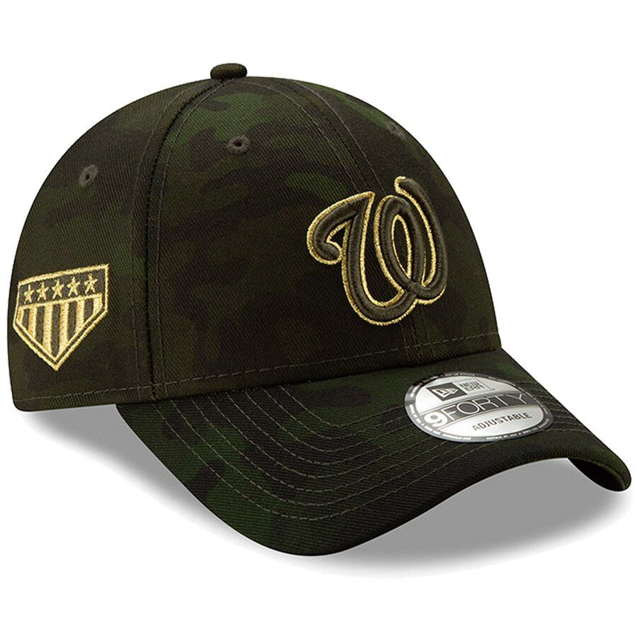 4ef4fcc46ad37 Washington Nationals New Era 2019 MLB Armed Forces Day 9FORTY Adjustable  Hat - Camo