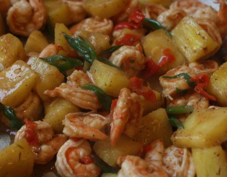 jerk shrimp+pineapple #jerkshrimp