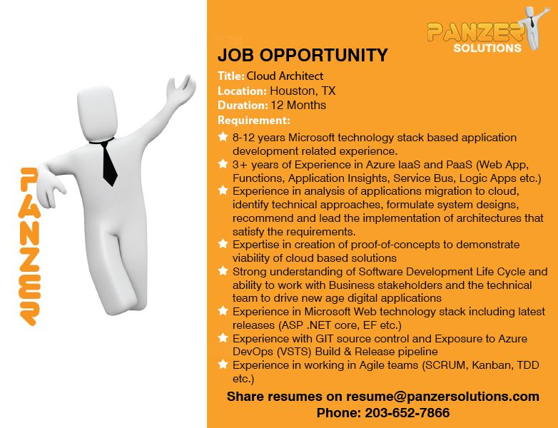 Cloud architect in 2020 job opportunities business