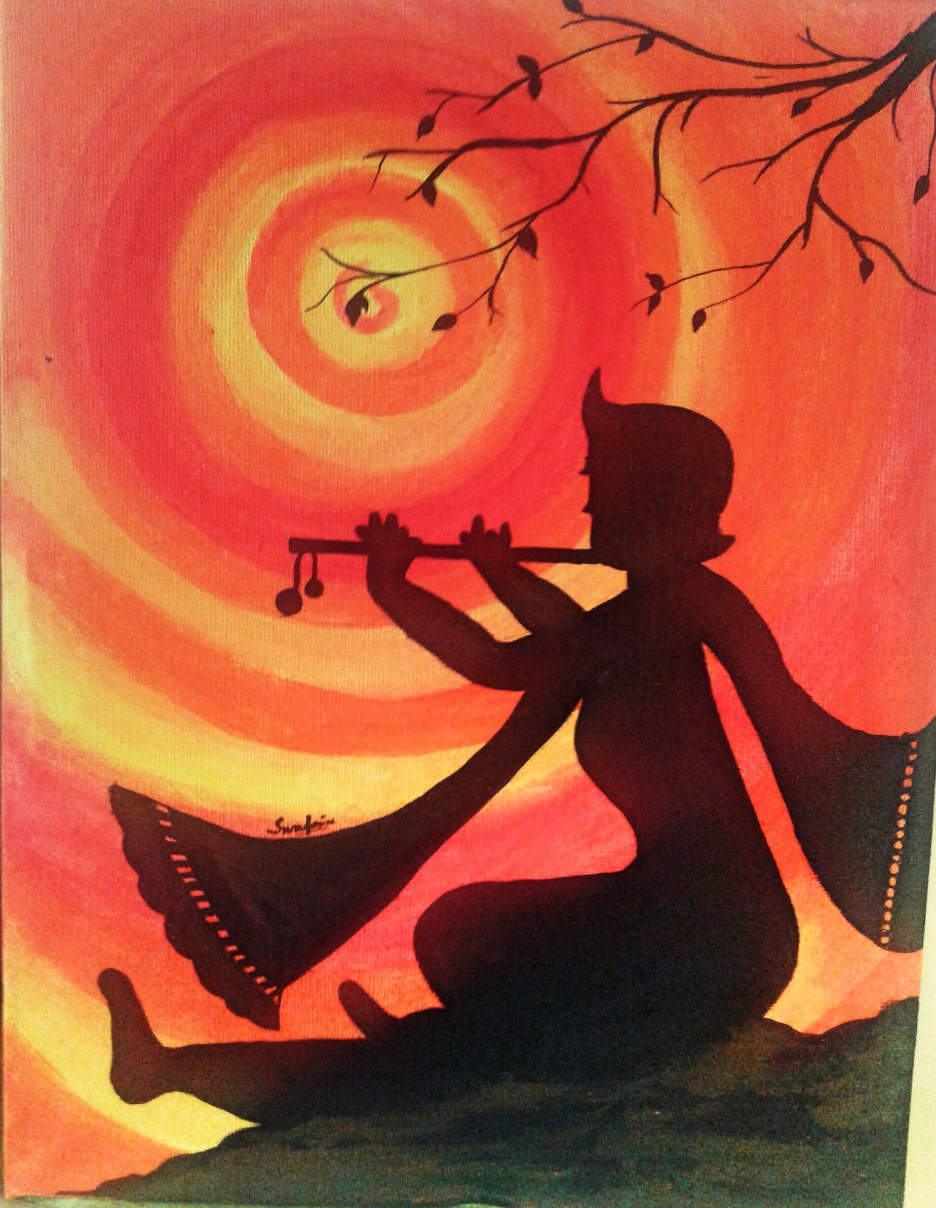 Hare Krishna Canvas Painting 5 Sold Out Still Orders Are Welcome
