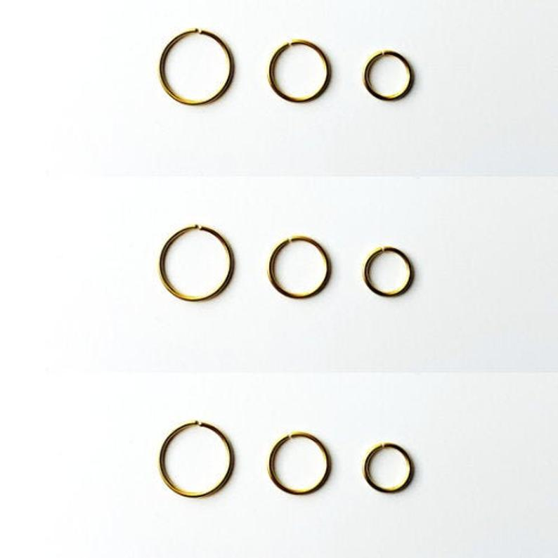 Gold Nose Hoop Ring Gold Ring Cartilage Hoop Gold Earrings Thin Nose Ring Nose Hoop Stainless Steel Nose Jewelry No In 2020 Nose Hoop Gold Nose Hoop Etsy Earrings Gold