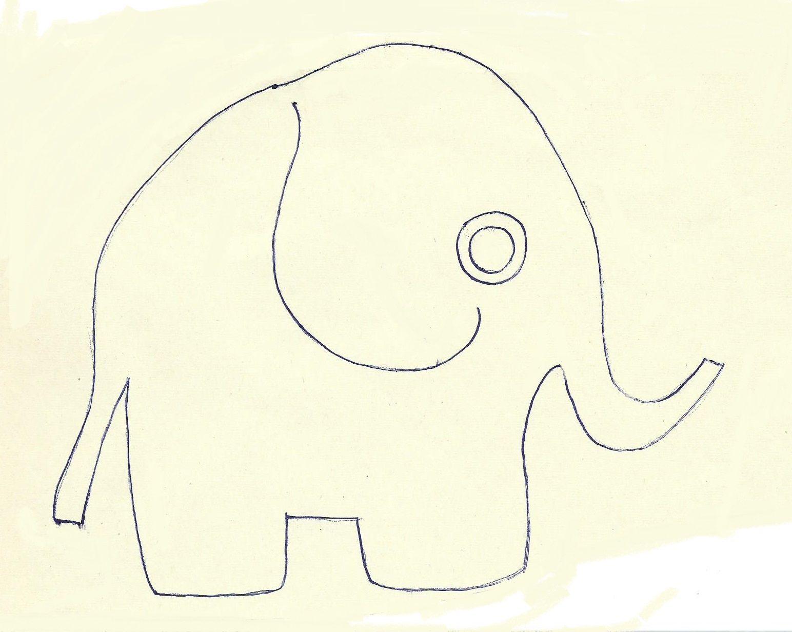 шаблоны слоник аппликация черепа великана