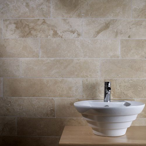 Stone Tiles Have A Natural Ridging And Some Anti Slip Properties Also Look Amazing Stone Bathroom Tiles Travertine Tile Bathroom Wall Tile Tile Bathroom
