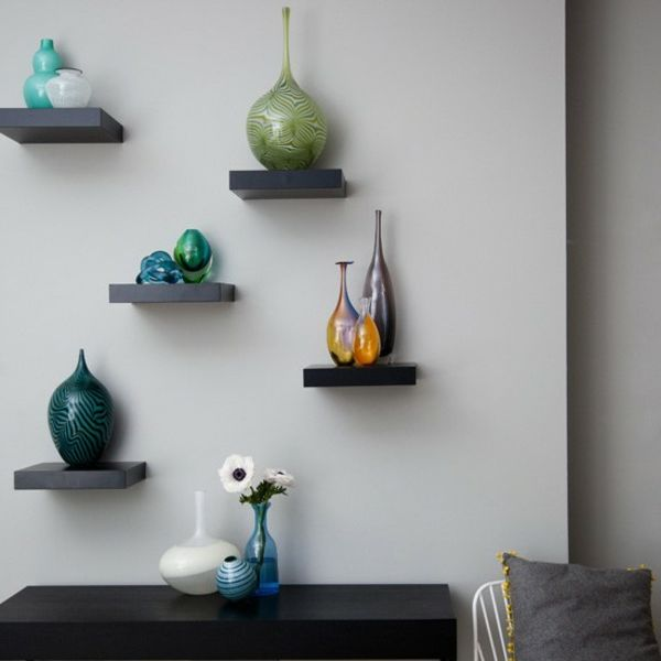 Regale wohnzimmer offen asymmetrisch wandregale wall for Wandregal wohnzimmer deko