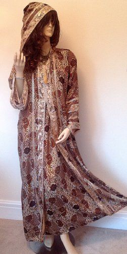 New Red Gold Moroccan Hooded Party Abaya Jilbab Long Silky Soft Dress S M L XL