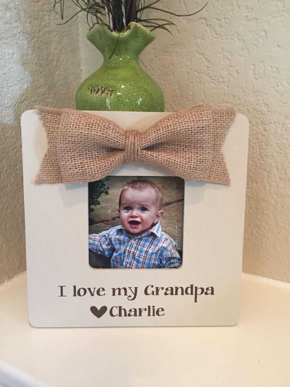 Christmas Gift for Grandpa papa frame gift grandparents grandma ...
