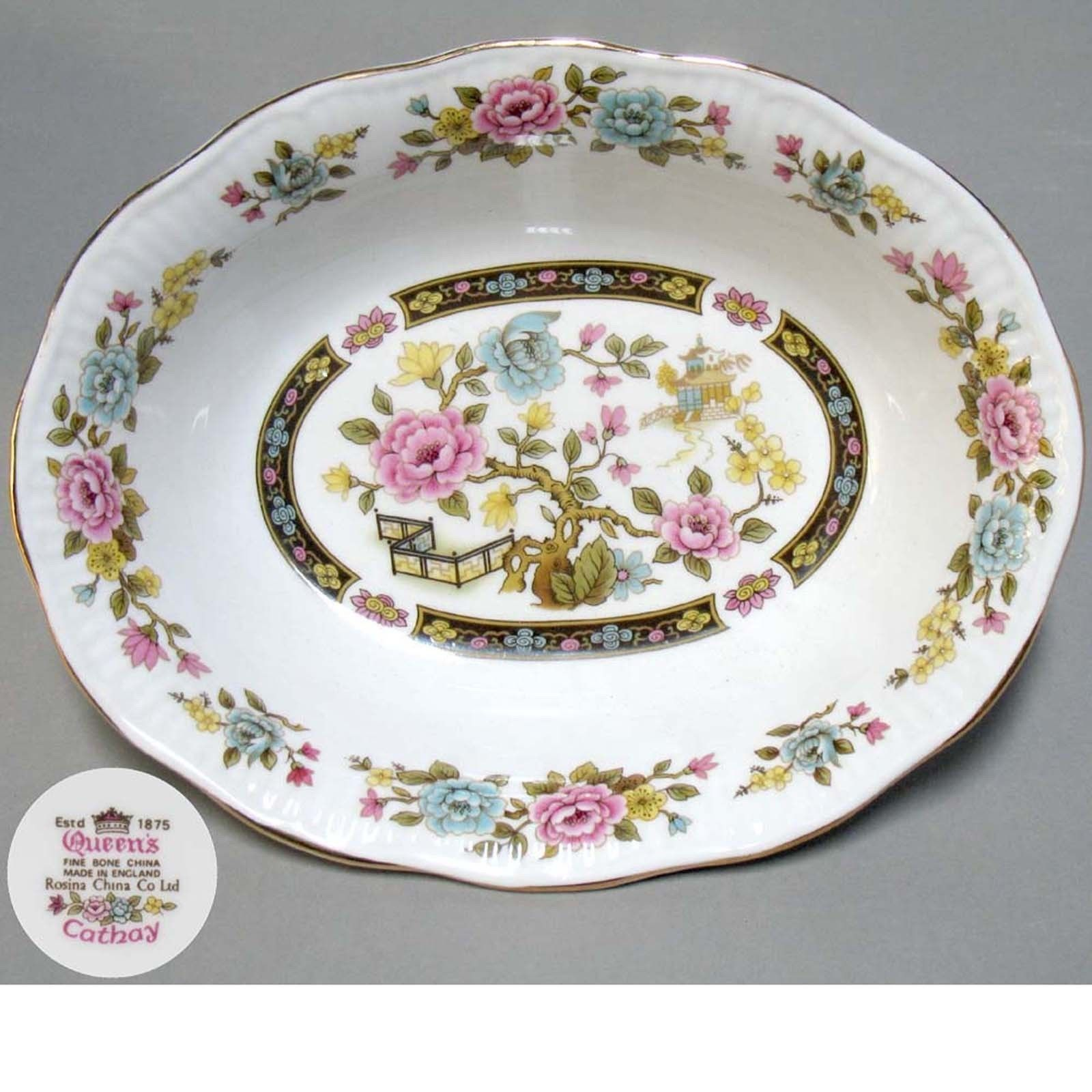 ROSINA QUEENu0027S 81 pc. for 12 persons English Bone China Dinnerware set Cathay - CAD  sc 1 st  Pinterest & ROSINA QUEENu0027S 81 pc. for 12 persons English Bone China Dinnerware ...