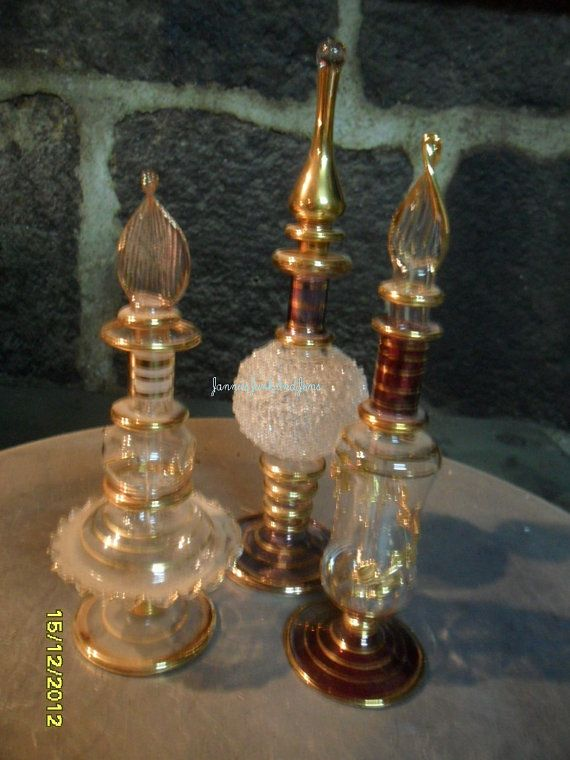 Three Perfume Bottles  Decorative and by GlassEyedGoblin on Etsy, €45.00