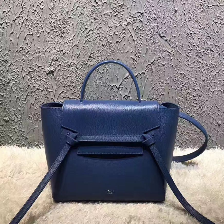 77abc4c16e Celine Micro Belt Handbag In Washed Blue Grained Calfskin 2017 ...
