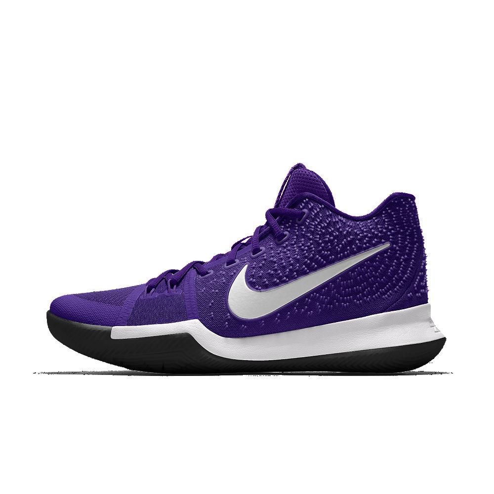 aa7d4c682e5c0 Nike Kyrie 3 iD Men s Basketball Shoe Size 10.5 (Purple)