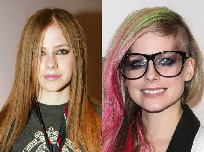 Avril Lavigne got a nose job #plasticsurgery #celebrity
