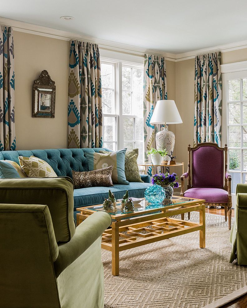 New obsession purple velvet and zebra teal sofa green for Olive green dining room ideas