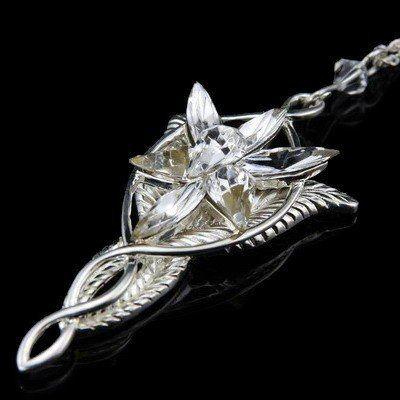Lady lotr charm plated silver arwen evenstar crystal pendant lady lotr charm plated silver arwen evenstar crystal pendant necklace chain aloadofball Gallery