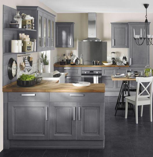 Cuisine Bistro - Lapeyre Country cottage kitchen Pinterest