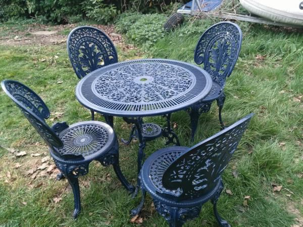 Awesome Vintage Garden Table And Chairs For Sale In Whitstable Kent Download Free Architecture Designs Salvmadebymaigaardcom