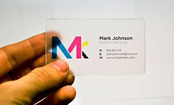 Top best 25 clear plastic business cards design ideas Best