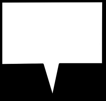 Speech Box Rectangular Shape