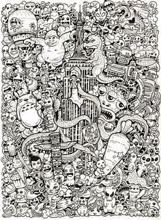 doodle coloring book - Google Search | coloring book | Pinterest ...