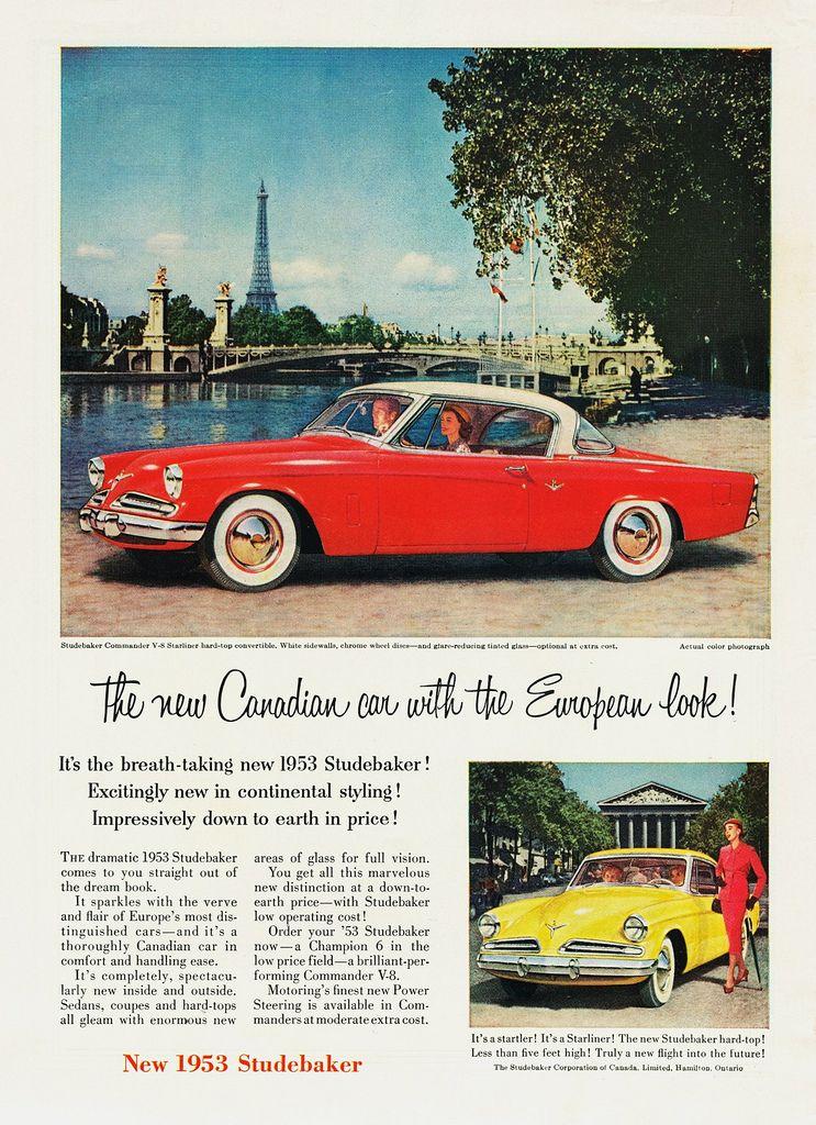 Studebaker Commander V-8 Starliner Hardtop \'53 for the Canada   Car ...