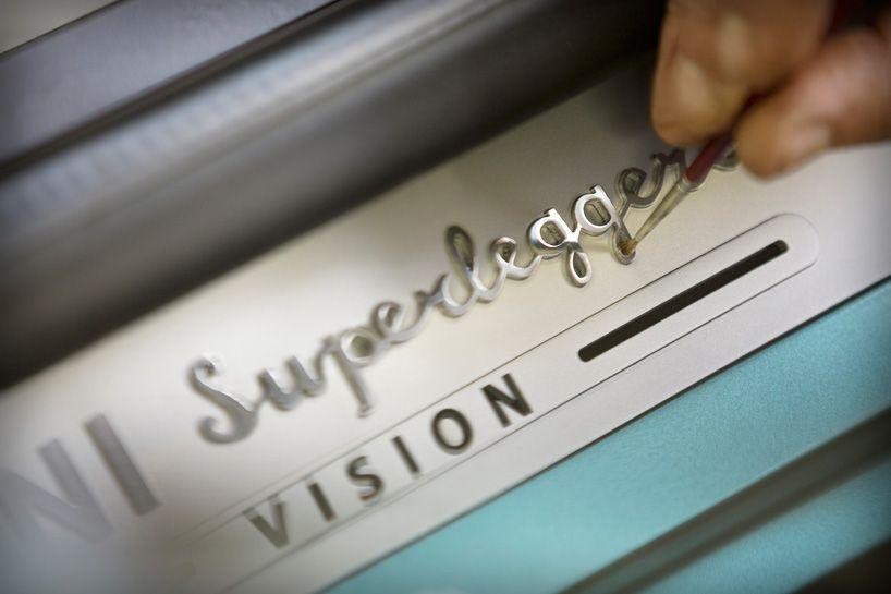 MINI superleggera vision is an italian coach-built electric roadster
