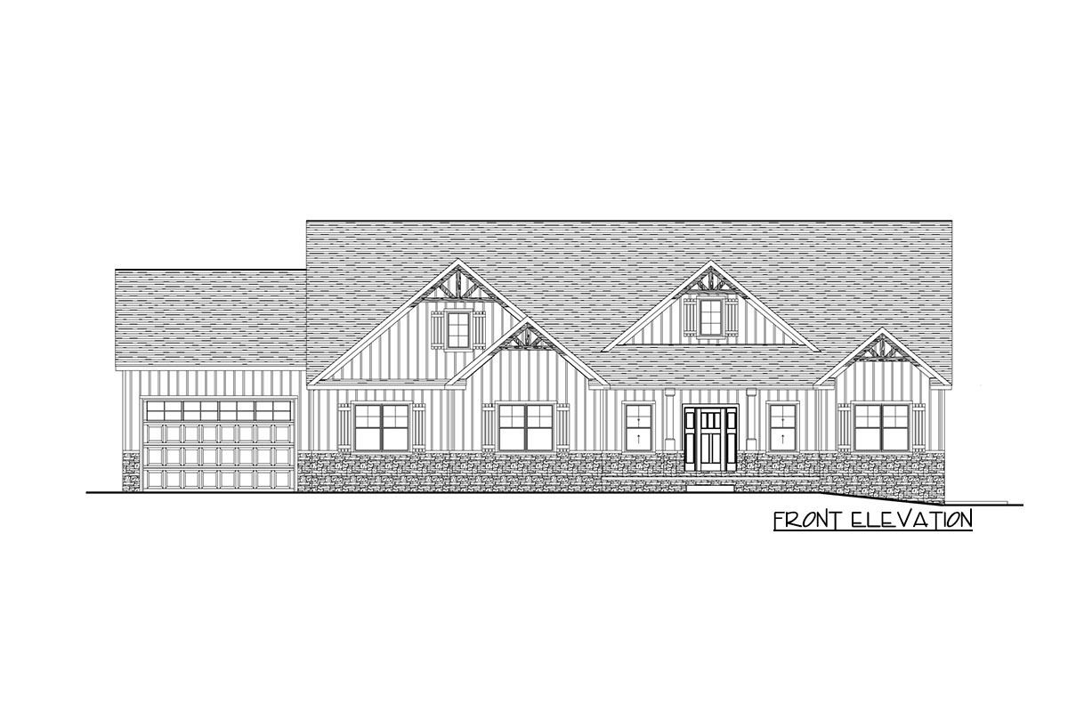 e story Exclusive Craftsman House Plan with Split Bedrooms