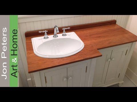 How To Make A Wooden Vanity Top Countertop Diy Countertops