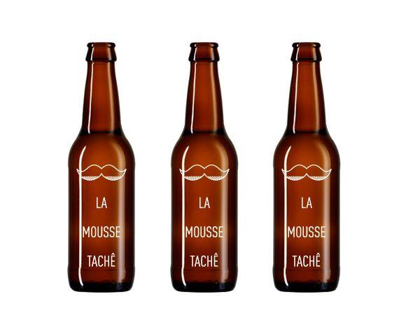 botella de cerveza que podrás personalizar gracias a la mousse tachê
