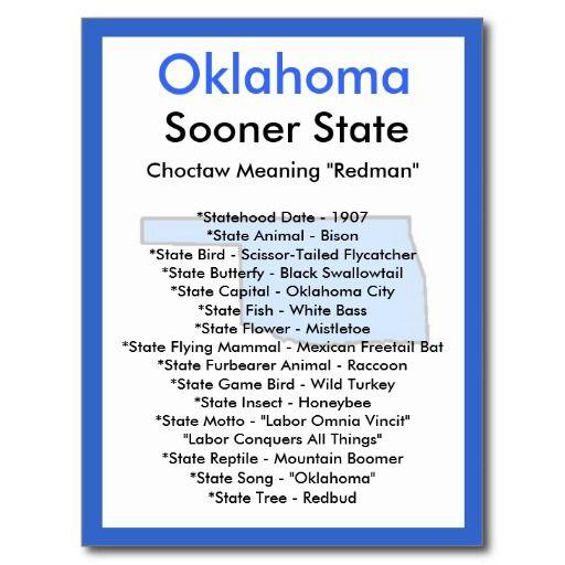 About Oklahoma Postcard Zazzle Com Oklahoma Maryland Nebraska